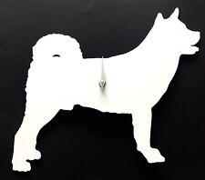 Akita Dog Wall Clock in White