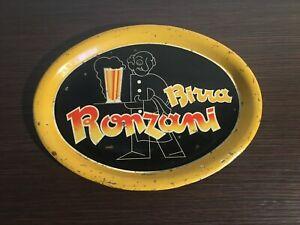 VASSOIO CROMOLITOGRAFIA OVALE BIRRA RONZANI BEER TRAY