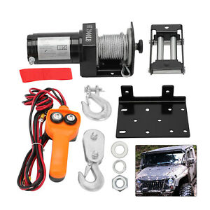 HEAVY DUTY POWERFUL 2000 LB 12V ELECTRIC REVERSIBLE WINCH - NEW PROFESSIONAL