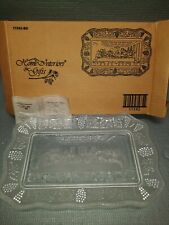 New ListingVintage Home Interior Homco Jesus Last Supper Easter Glass Bread Plate Dish Gift
