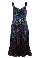Ex Store Womens Chiffon Embellished Summer Sleeveless Strappy Dress 8-20
