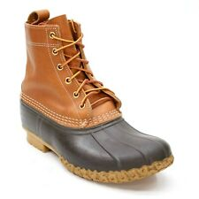 Vintage LL Bean Ladies 9 M Tan Brown Ankle Hunting Rubber Duck Boots Maine USA