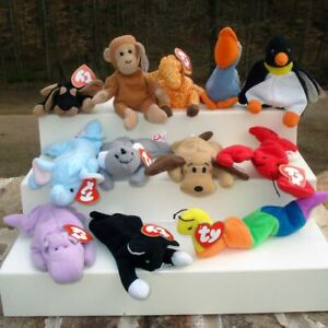 McDonalds Happy Meal-Ty Beanie Babies 1998 Complete Set Of 12- New In Package
