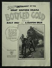 Worthington Beer Spoof Cowboy Western Movie Cinema Poster 1928 Advertisement Ad