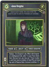 Star Wars CCG Reflections II Foil Janus Greejatus