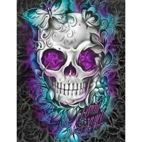 5D Full Drill Diamond Painting Butterfly Skull Embroidery Kits Art Wall Decors