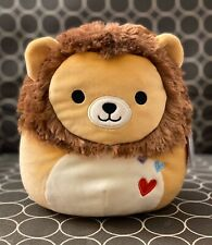 "NWT Squishmallow 8"" Lion Francis Valentine 2020 plush kellytoy NEW"