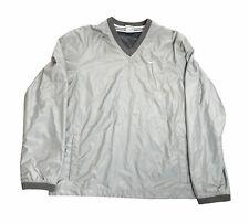 New listing nike mens windbreaker jacket pullover v neck Gray Nike Swoosh size M