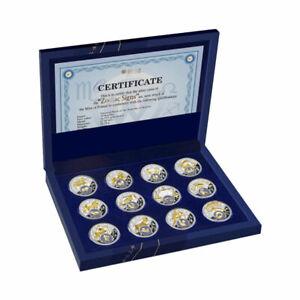 Belarus Zodiac 2013 Proof Silver Set 12x 20 rubles Belarus 2013