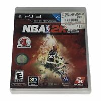 NBA 2K12 (Sony PlayStation 3, 2011) Complete w/Manual Larry Bird Cover