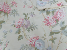 LOT 3 MARTHA STEWART EVERYDAY PINK  DALHIA FLORAL LINED VALANCE BEAUTIFUL COND.