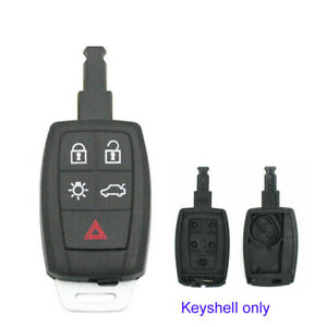 5 Buttons Keyless Go Car Remote Key Shell Case Cover for Volvo C30 C70 S40 V50