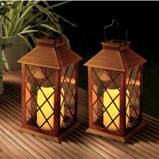 Solar Lanterns Outdoor Garden Hanging LED Flashing Candle Lights Waterproof