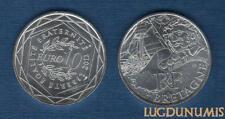 10 Euro Série des Régions 2012 Personnage Argent SUP - Bretagne