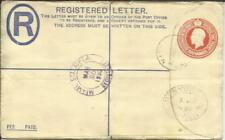 Bahamas Registered Postal Envelope HG:C4 uprated SG#122(x2)#128 NASSAU 24/MR/30