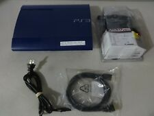 Tested PS3 Sony Playstation 3 Super SLIM 250GB Azurite Blue Model CECH-4201B