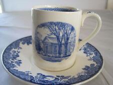 WEDGWOOD HARVARD UNIVERSITY TERCENTENARY 1936 BLUE & WHITE DEMITASSE HOLDEN