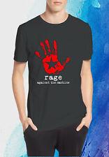 New ROCK BAND BLACK Rage Against The Machine Men's Black & White GILDAN T Shirt