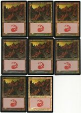 MTG Japanese Foil Mountain x8 #346 Scott Bailey Invasion 5 EX 2 Played 1 HP
