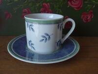 V+B Gallo Switch 3 Porzellan Kaffeegedeck Tasse + Untere Villeroy Boch mehr da