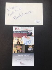 Bill Parcells NY GIANTS COACH Hand Signed 3x5 Index Card Autograph JSA CERTIFIED