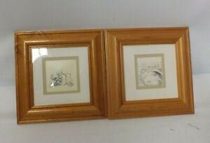 Pair of Winnie the Pooh (PF304 & PF340) framed illustrations (Hol)
