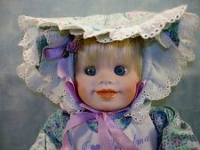 Bonnet Baby Porcelain Doll by Holly Hunt for Knowles Dolls