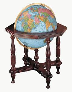 Replogle Statesman Blue Illuminated 20 Inch Floor World Globe