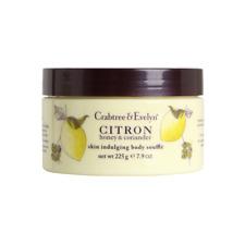 New Crabtree & Evelyn 225g Energising Citron,Honey & Coriander Body Souffle Jar