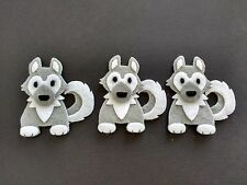 PK 2 CHRISTMAS PUPPY EMBELLISHMENT TOPPERS FOR CARDS /& CRAFT