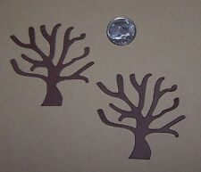8 Bare Trees Premade PAPER Die Cuts / Scrapbook & Card Making