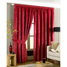 """IMPERIAL RED VELVET THICK HEAVYWEIGHT LINED ANNEAU TOP CURTAINS 46"""" X 72''"""