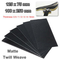 0.5-5mm Thick Black Carbon Fiber Plate Panel Sheet Material Board Matte Twill