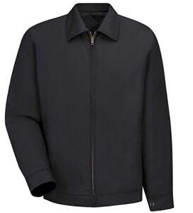 Red Kap Men's Slash Pocket Work Jacket Black M