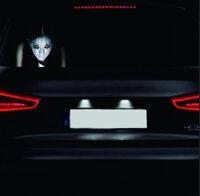 1X Car Sticker Ghost Window 3D Sticker Night Reflective High Beam Warning Decal