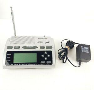 Midland WR-300 SAME Digital Weather Alert AM/FM Radio Alarm Clock TESTED & WORKS