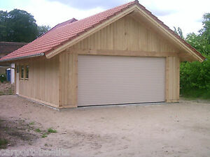 Oldtimer Holzgarage - Potsdam, Satteldach KVH 6,00 x 8,00 m als Bausatz