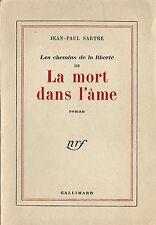 RARE EO N° PUR FIL JEAN-PAUL SARTRE LA MORT DANS L'ÄME - CHEMINS DE LA LIBERTÉ 3