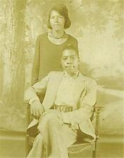 VINTAGE PHOTO: ATTRACTIVE BLACK AFRICAN AMERICAN MOTHER w HANDSOME SON ID'd