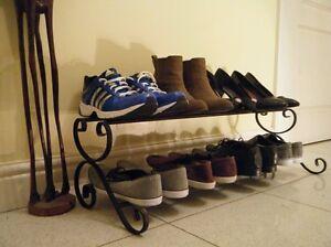 Wrought iron shoe rack, shoe organiser, shoe storage, shoe holder