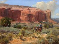 Art Canvas Print Cowboy Oil painting Picture Printed on canvas 16X20 Inch P233