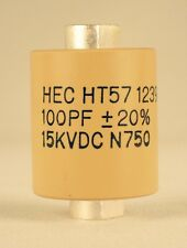 Factory New High Energy HT57Y101MA  100 Pf 15KV Ceramic Doorknob Capacitor Ham