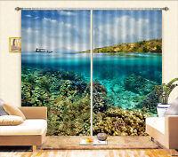 3D Meeresgrund 661 Blockade Foto Vorhang Druckvorhang Vorhänge Stoff Fenster DE