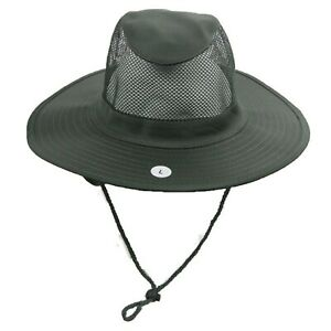 Boonie Bucket Hat Camouflage Mesh Roof Neck Cover Sun Cap Hunting Hiking Fishing