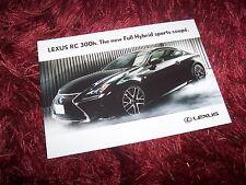 Photo Carte Officielle / Photo Card LEXUS RC 300h 2014 //