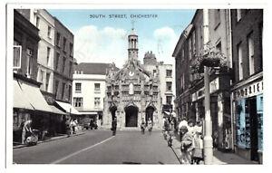AK, Chichester, West Sussex, South Street, belebt, um 1960