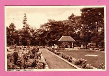 Postcard dated 1936. Everitt Park, Lowestoft. Suffolk