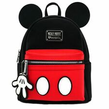 Loungefly x Mickey Mouse Mini Backpack with Ears - 3D Disney School Bag Black