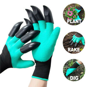 Gardening Gloves with Claws For Raking Digging Planting Waterproof And Washable