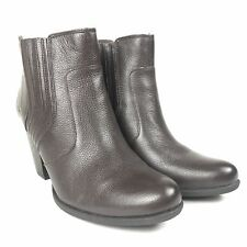 """Born - Size 9 - Womens Leather Born BOC Brown Boots With 3-1/4"""" Heel"""